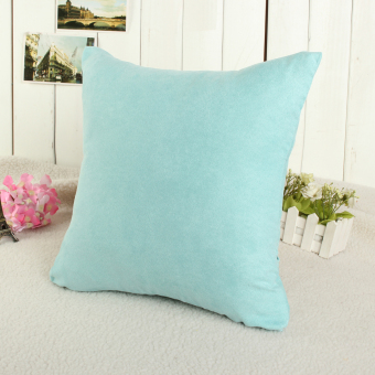 Harga Candy Color Soft Micro Suede Sofa Pillow Case Cushion Cover Home Decor 40 x 40cm(EXPORT)