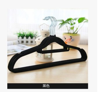 Harga [10 pcs] child support seamless clothes hanging clothing support magic slip flocking hanger clothes hanger clothes hanging