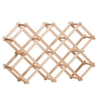 Harga Folding Pine Wood 10 Bottles Wine Rack(Export) - Intl