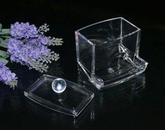 Fashion Top Acrylic Storage Box Crystal Storage Boxes Transparent Acrylic Cotton Swab Box Cosmetic Cotton - intl - 4