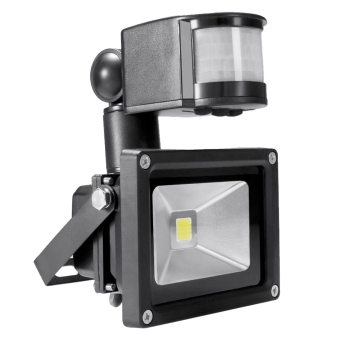 Harga 10W Waterproof IR Motion Sensor Security Flood Projection Light Lamp Floodlight Pure White Light