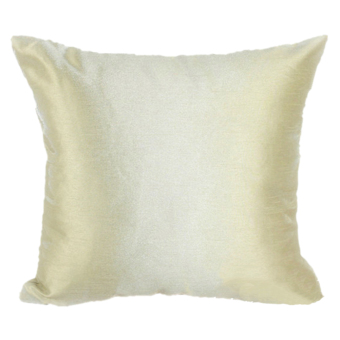Harga Jetting Buy Faux Silk Plain Sofa Square Pillow Case - Beige