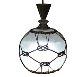 Harga Shifan New Glass Crack Rattan Lamp Hand Made Pendant Lights With 5W E27 LED Lamp 2017 Rattan Lamp Warm Light (2800-3200K)