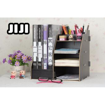 Harga JIJI TB-05 File Storage Rack/ Cupboard/ Makeup Table Organizers ★Acrylic ★Table Organizers ★Drawers ★Storage ★Compartment ★Cabinets