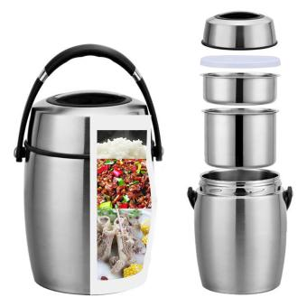 Harga XHH Diamond Stainless Steel Insulated Food Carrier 1.2L (Black)
