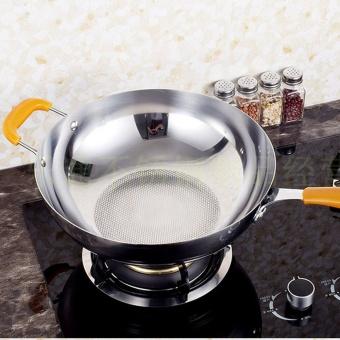 NaVa German Nano-Tech Honeycomb Stainless Steel Smokeless Handleless Non-Stick Frying Pan (30cm) - 2