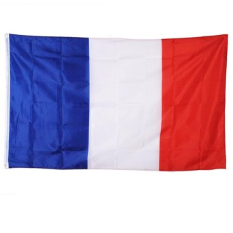 Harga French Flag 3x5 90x150cm 3x5' Polyester France The French Republic Banner SPORTS - intl