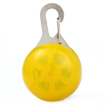 Harga Flashing Clip-on LED Pet Pendant Tag Safety Light Cats Dogs Ornaments (YELLOW)