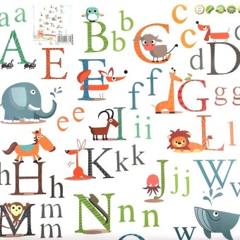 Harga Animal Alphabet Wall Stickers(Export)