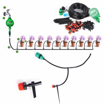 Harga 25m Diy Drip Irrigation System Kit Plant Automatic Self Watering Garden Hose Arrosage Automatique Micro Drip Garden Watering - intl