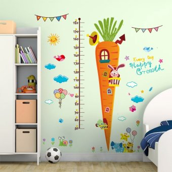 Harga Kindergarten children's room wall stickers cartoon sticker carrot baby measuring height stickers wall decoration