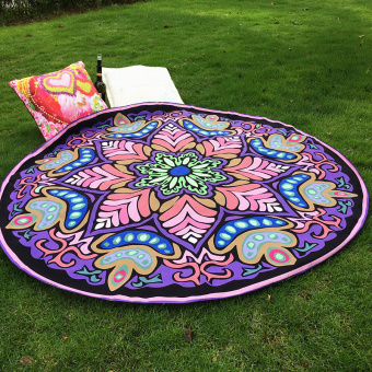 Hippie Round Mandala Tapestry Indian Wall Hanging Beach Throw Towel Yoga Mat NEW - intl