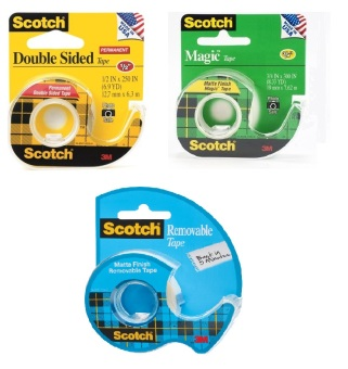 Harga [Bundle of 3] Scotch® Transparent Tape + Double Sided + Removable Tape