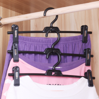 Japan lec upscale SEAMLESS hanger multifunctional clothes rack wardrobe hangers clothes hanger with clip son