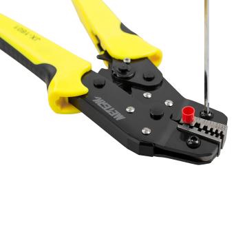 Meterk Professional Wire Crimper Engineering Ratchet Terminal Crimping Pliers JX-06WF 0.25-6 mm2 Bootlace Ferrule Crimper Crimping Tool Cord End Terminals 24-10AWG - intl - 4