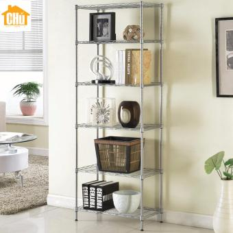 Harga 6 Tier Mini Light Duty Storage Rack (Silver)
