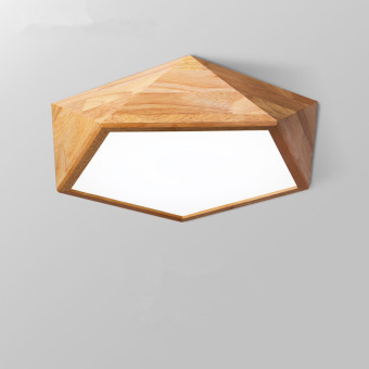 Harga Shifan Ceiling Light 42CM 24W (White Light) Wooden Led Lamps GY7101 Simple Creative Fixture Geometry Living Room Bedroom lighting