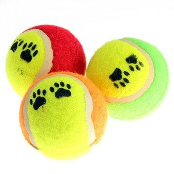 Harga PET SUPPLIES DOG TOY TENNIS BALLS RUN FETCH THROW PLAY TOY CHEW TOY