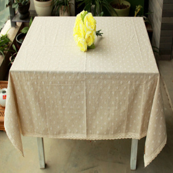 Harga Rondaful H:140*220 Linen tablecloths Gaibu Sen Department Petty daisy lace linen table cloth