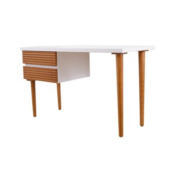 Harga Two Tone Design Desk-White (Free Delivery)