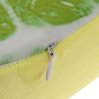 3D Print Chair Cushion Sofa Pillow Lime Pattern 33cm (Intl) - 2