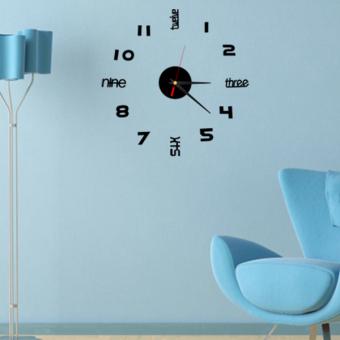 DIY Acrylic Crystal stereoscopic wall clock TV wall sticker Home Decoration - 4