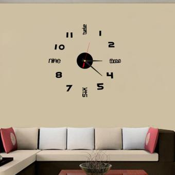 DIY Acrylic Crystal stereoscopic wall clock TV wall sticker Home Decoration - 3