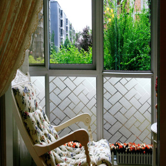 For Sale Pcs Non Adhesive Frosted Window Glass Scenery Wall - Window stickers for home singapore