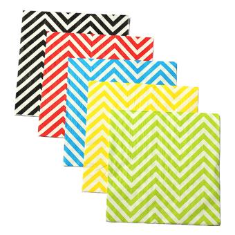 13'' Paper Napkins Wave Tableware Wedding Dinner Birthday Dinner Xmas Party Yellow White Waves - Intl - 5