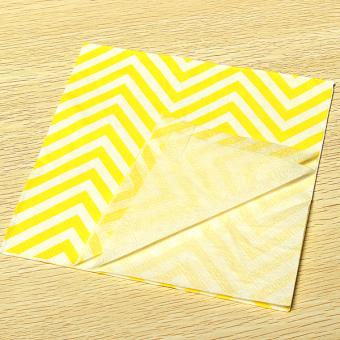 13'' Paper Napkins Wave Tableware Wedding Dinner Birthday Dinner Xmas Party Yellow White Waves - Intl - 4