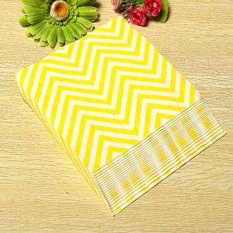 13'' Paper Napkins Wave Tableware Wedding Dinner Birthday Dinner Xmas Party Yellow White Waves - Intl - 3