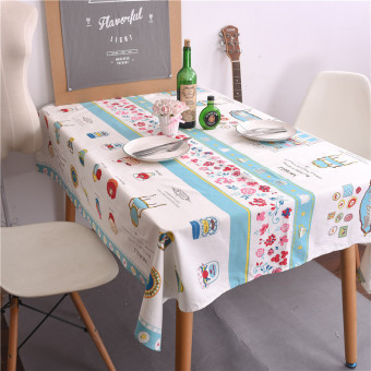 Japan And South Korea Small Fresh Cotton Tablecloth Coffee Hall Tablecloth Hotel Square Dining Table Cloth
