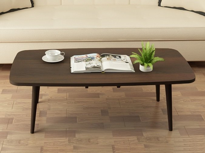 Japanese Style Rectangle Coffee Table Dark Walnut Singapore