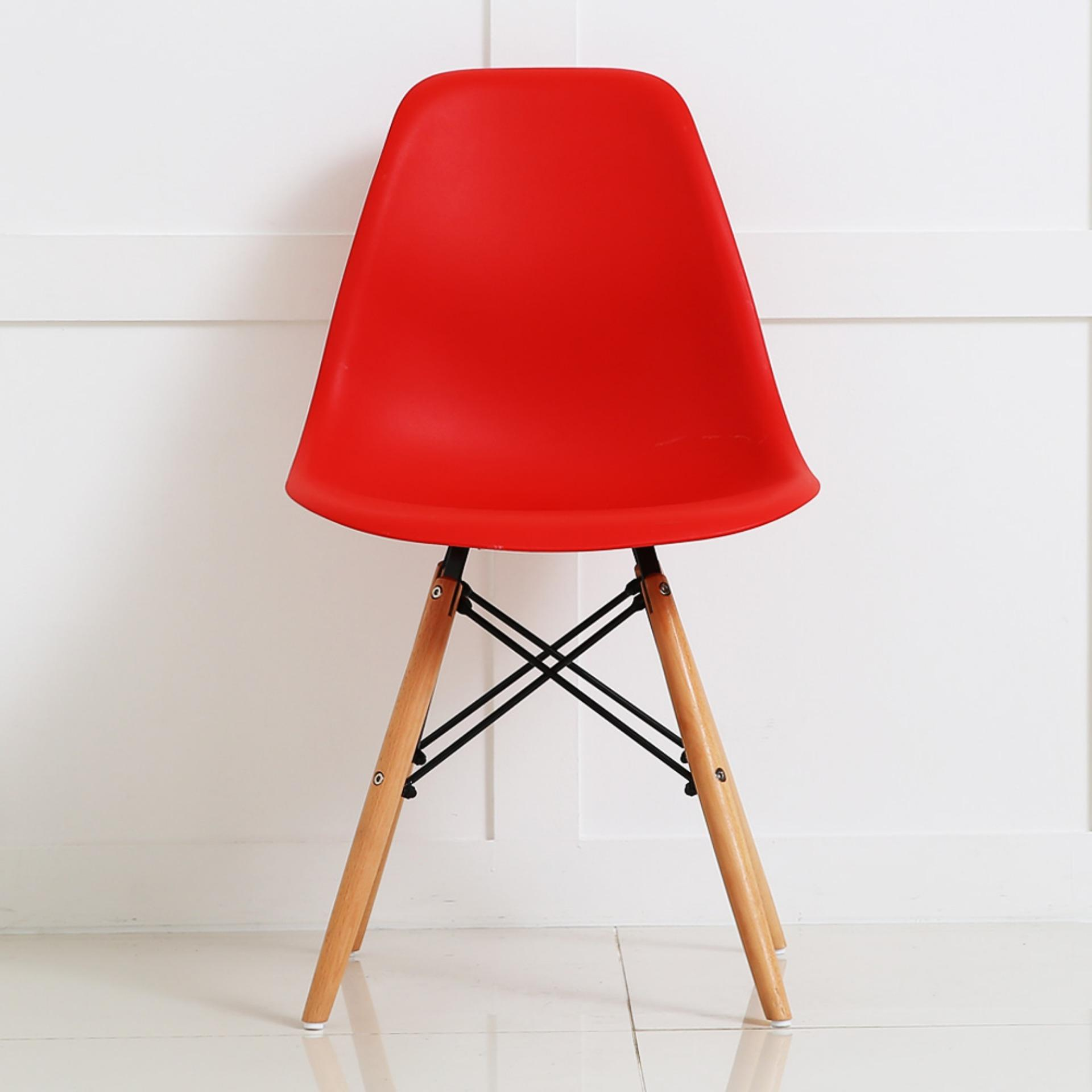 jellya basic chair (red) (free delivery) | lazada singapore