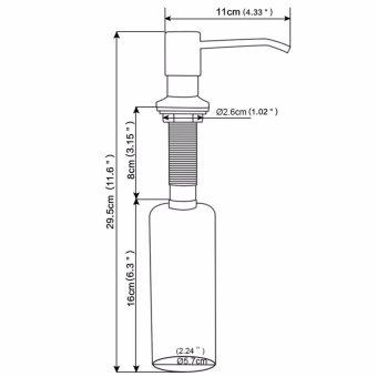 JOMOLA 350ml Kitchen Sink Liquid Soap Dispenser Stainless Steel Brushed Finish Head ABS Bottle-intl - 5