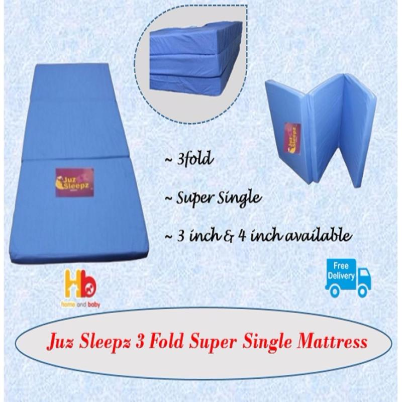 Juz Sleepz 3 Fold Super Single Mattress 4-Inch