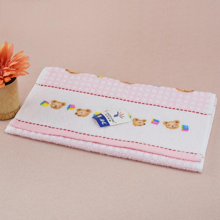King shore towel child towel T1053 cute Bear Head Soft and comfortable Print children's towel Bear pattern towel boy