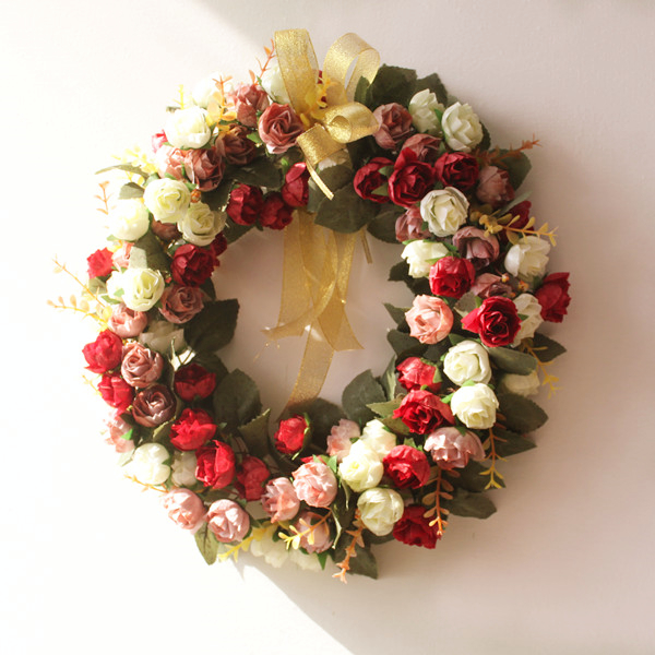 Korea Wreath Door Hanging Door Trim Country Garden Style Decorative Wall  Pendant Bedroom Door Trim Wedding