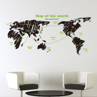 Taobao creative wall stickers wall office map, Popular creative ...
