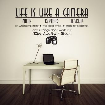 Harga Life Is Like A Camera Wall Sticker Decal Quote Vinyl Room WallDecal Decor