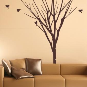 Litter Trees Wall Stickers Large Living Room Restaurant Background Wall  Sticker Tree Wall Painting Stickers Creative Part 97