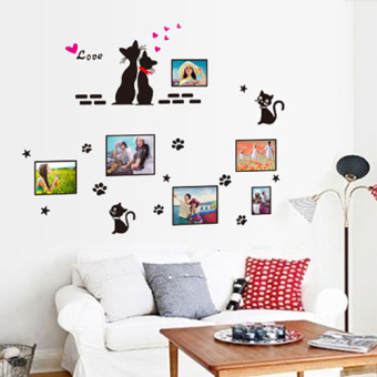 Living room TV background photo wall romantic wall sticker