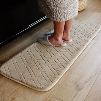 Long short memory foam absorbent non-slip mat Reed