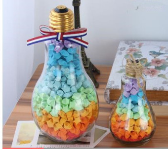 Lucky Star origami cork large stars drift bottle wishing bottle