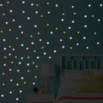 Luminous fluorescent stickers wallpaper 3D stars - intl - 2