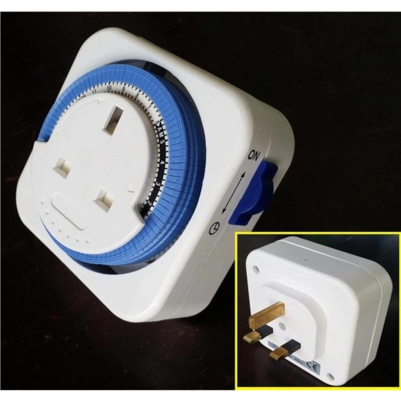 M-Lite 13A Plug in 24 Hour Timer Switch Socket SQUARE - intl