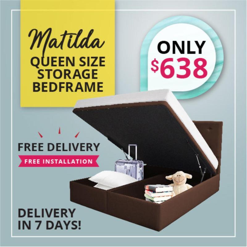 Matilda Queen Size Storage Bedframe.