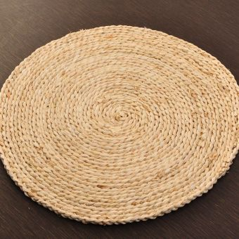 Meditation rushes straw handmade Coaster