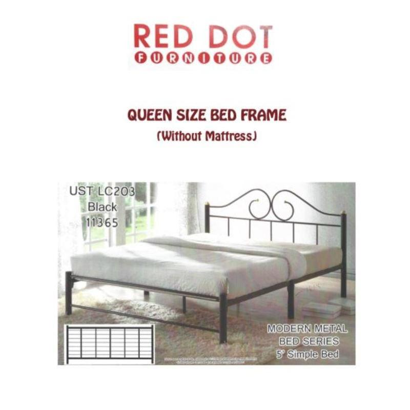 Metal Bed Frame Queen Size (Black)