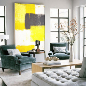 Modern Abstract Paint Bedroom Entrance Living Room Decorative Painting